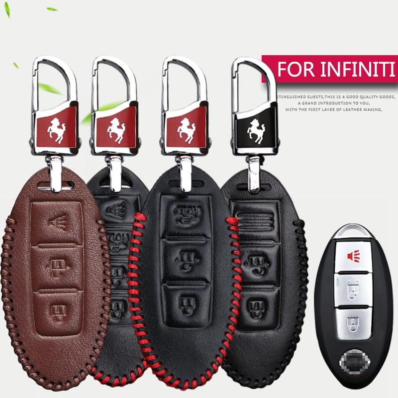 Чехол для ключей из натуральной кожи Infiniti FX35 Q50 QX70 G35 G37 Q30 QX80 G25 FX EX35|Футляр