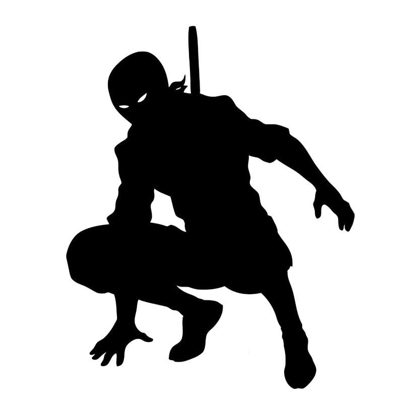 13.5cm*17cm Bardian Samurai Ninja Shadow Warrior Fighter Vinyl Car Sticker Decals Black/Silver S6-4034