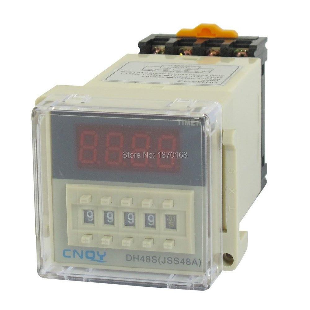 DH48S-2z Digital de pantalla LCD # Móvil # tunda relé de 0,01 S-9999 H AC/110 V w base