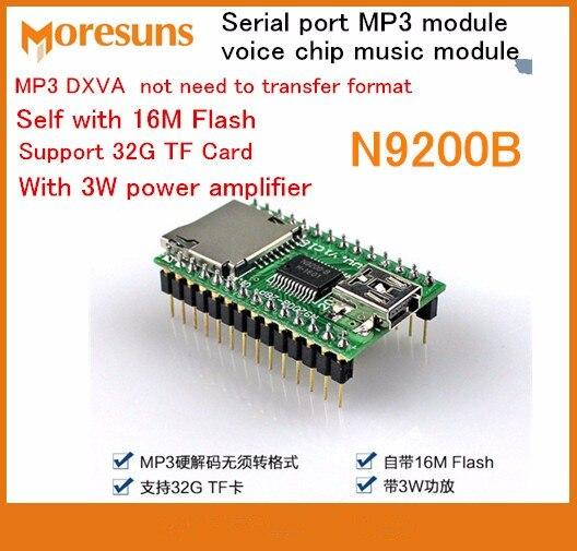 Fast Free Ship 5pcs/lot Serial port MP3 module voice chip music module MP3 chip voice module TF card N9200B Module