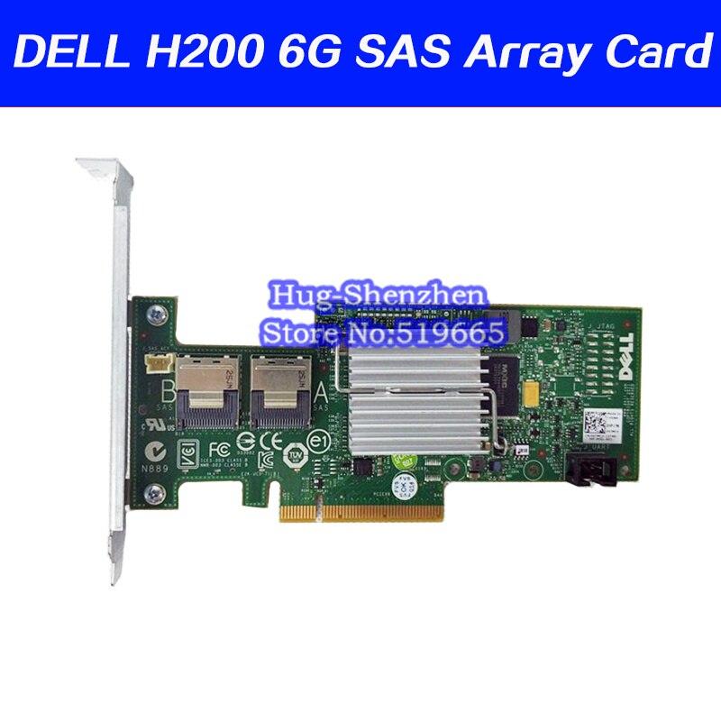 Perc h200 sas 6 gb hba cartão de expansão sata3 ssd sas suporta 3 t 4 t disco rígido 3j8fw 47mc para dell h200