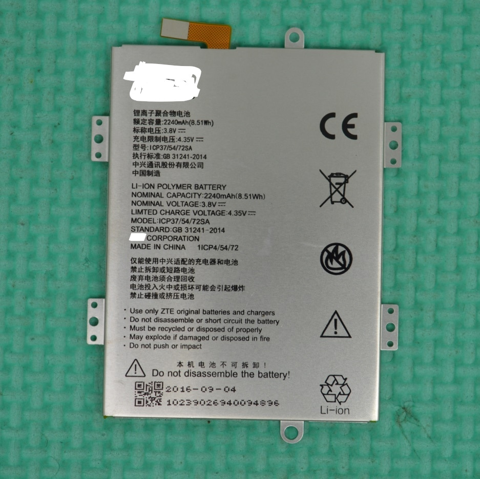 3.8V 2240mAh ICP37/54/72SA For ZTE Blade A310 Battery enlarge