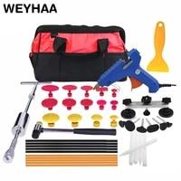 dent puller kit tool to remove dents auto repair tool car body repair kit dent removal slide hammer pulling bridge 21