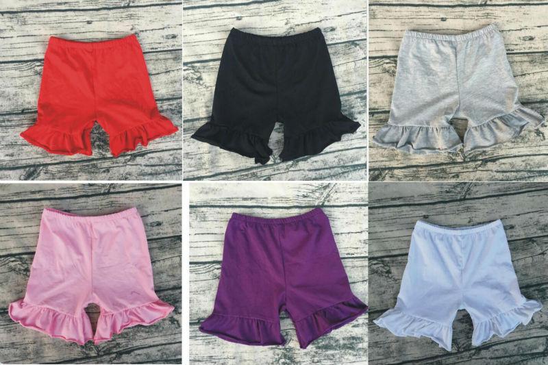 baby girls knit cotton spandex shorts single ruffle baby girl bloomer short