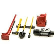6 pièces 1/10 echelle plastique accessoire outils pour SCX10 D90 RC Rock caterpillar camion télécommande jouet accessoires