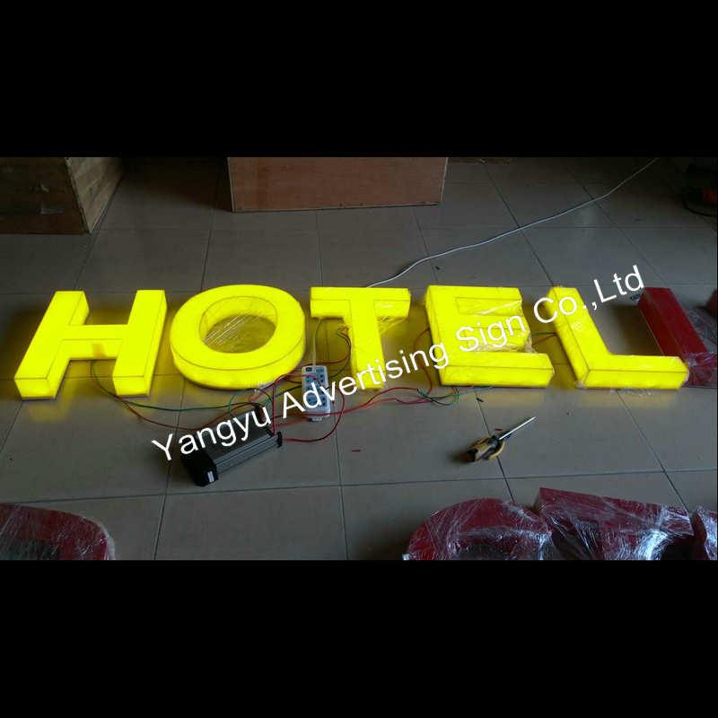 Diseños de tablero de acrílico led vintage para hotel