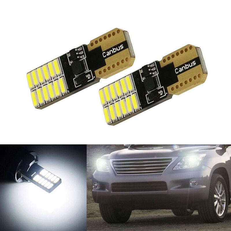 2x T10 W5W cuña de luz LED marcador lámparas bombilla para lexus rx300 rx330 rx350 is200 is250 lx570 lx470 gs300 gx47 ES350