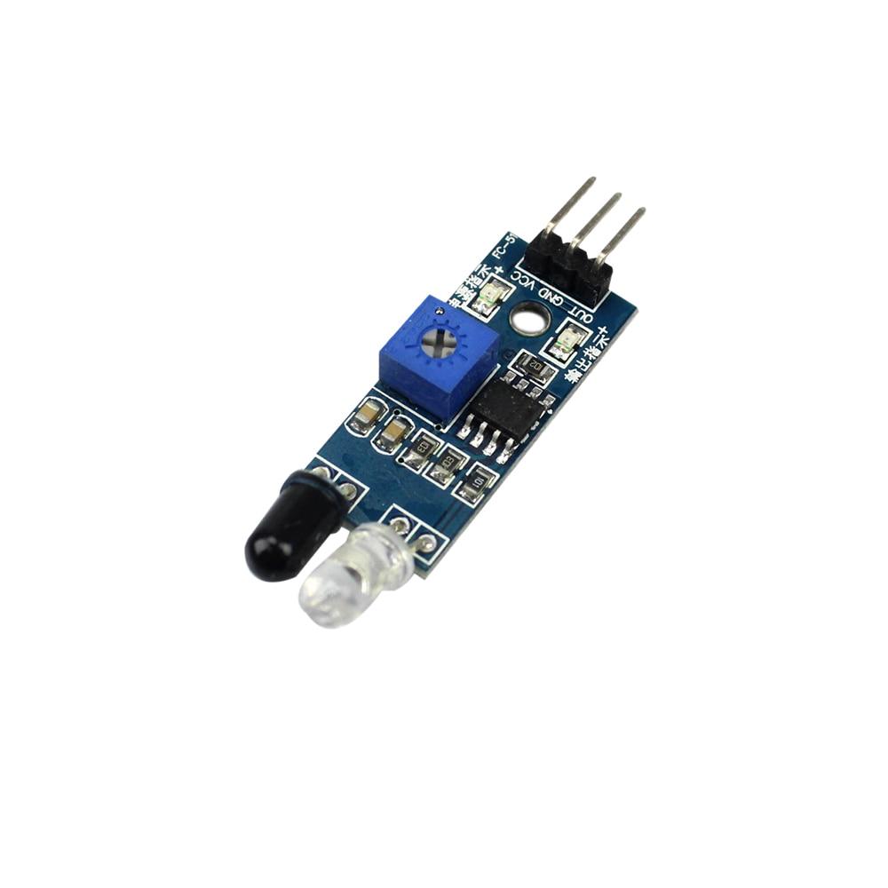Robot inteligente reflectante fotoeléctrico de 3 pines infrarrojo IR Módulo Sensor para evitar obstáculos para Arduino Diy Kit Chasis de coche de juguete
