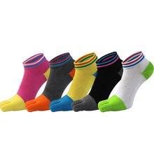 Nouveau kawaii coton cinq doigts chaussettes femmes vente chaude mode haute qualité orteil chaussettes décontracté respirant cinq orteil chaussette 5 paires