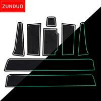 ZUNDUO Anti-Slip Gate Slot Mat For Peugeot 508 508sw 508RXH 2011 2012 2013 2014 2015 2016 2017 2018 Accessories Non-slip mats