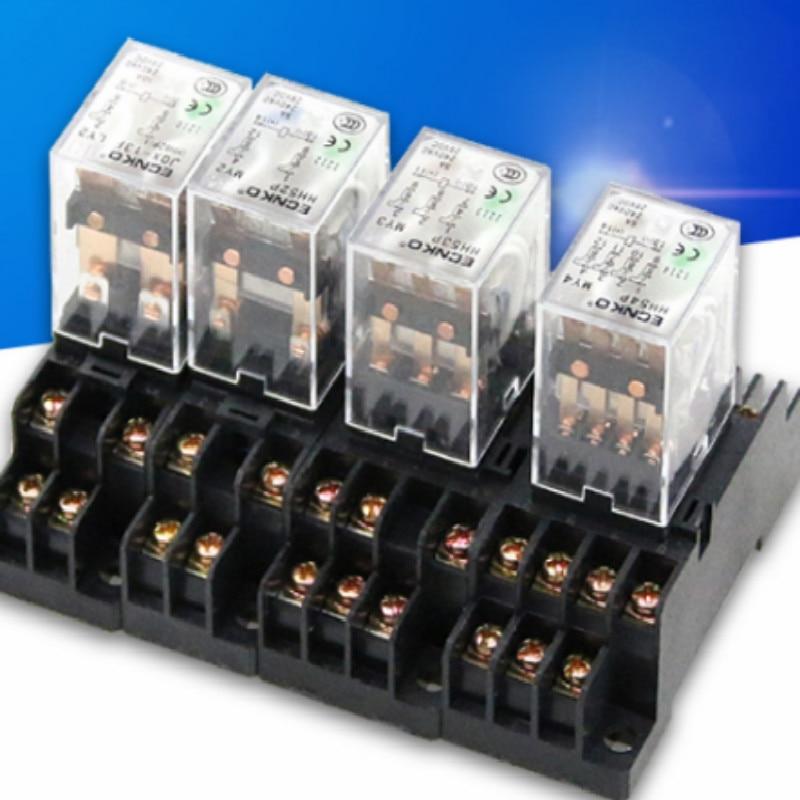HH54P AC220V AC110V Intermediate electromagnetic relay 220v 110V relay 12v rele relay 24v DC12V DC24V 14feet 3A FREE SHIPPING