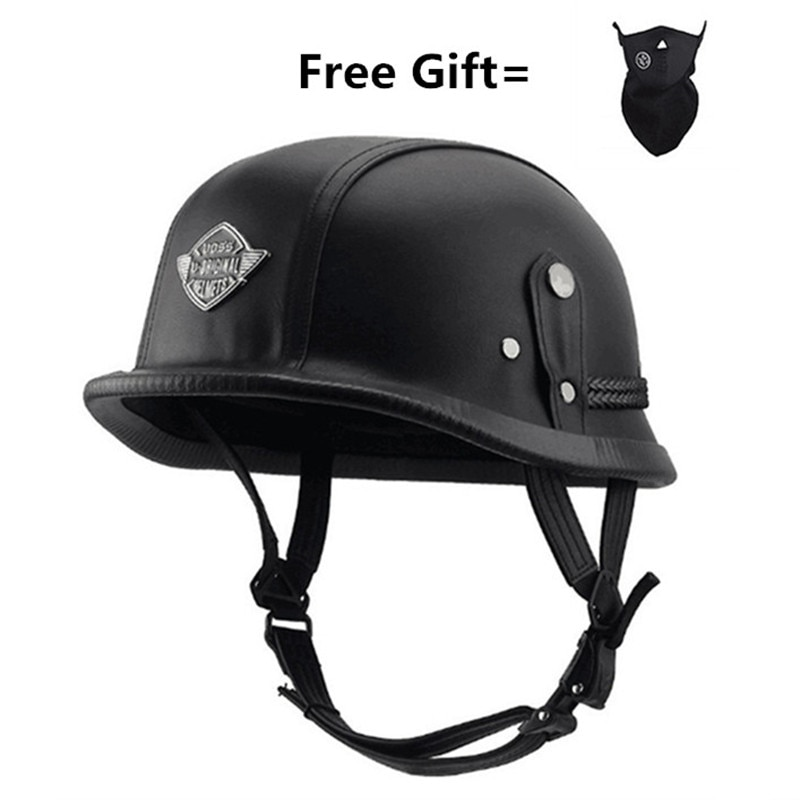 Unisex half face Motorcycle Helmets German retro vintage Helmet Chopper Cruiser Biker Helmets bicycle casque moto new german motorcycle wwii style half helmet chopper biker pilot goggles open face moto motocicleta with free goggle and mask