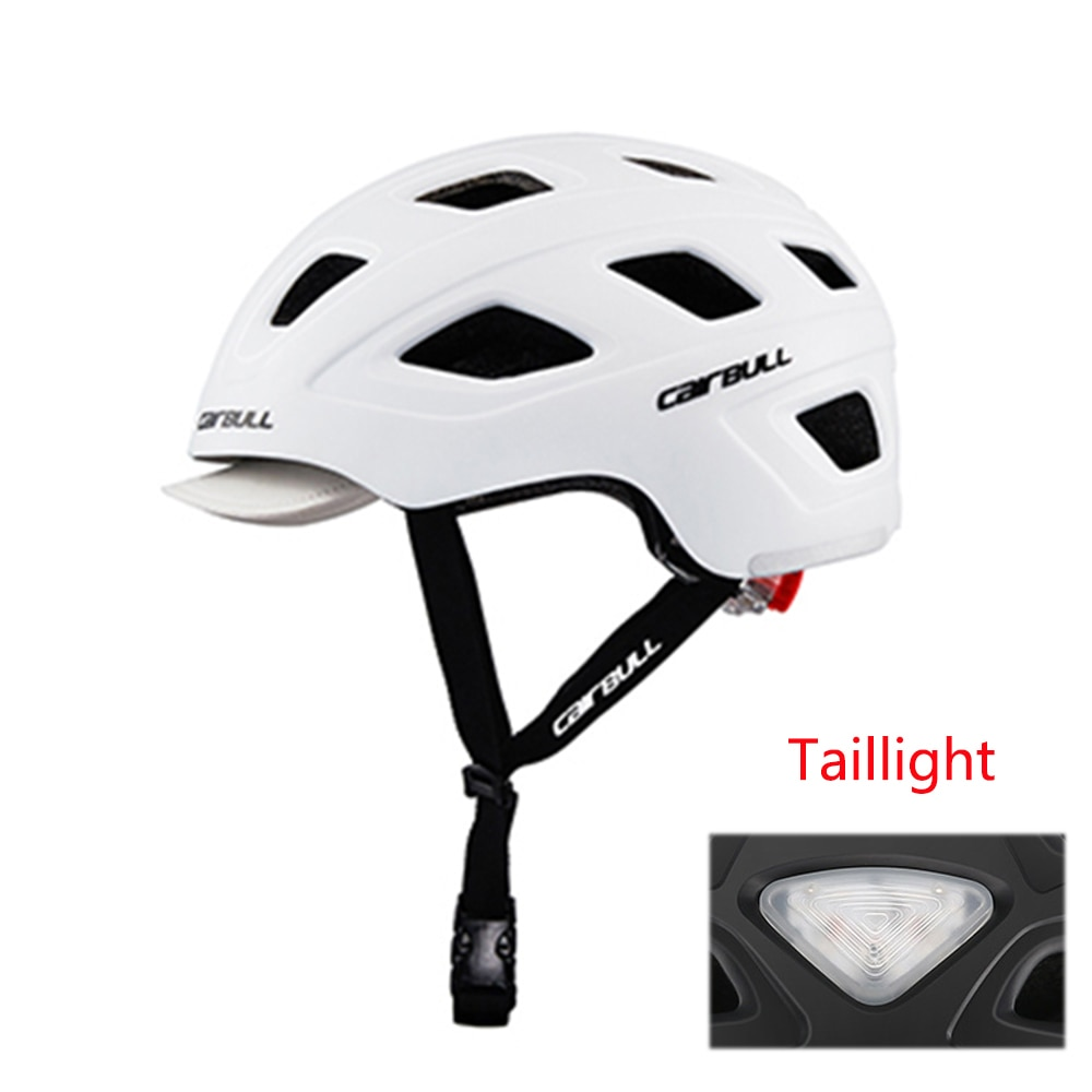Casco para la ciudad de Casco de bicicleta de carretera, cascos de ciclismo para hombre y mujer con luz LED, cascos de ala removible para bicicleta de montaña BMX