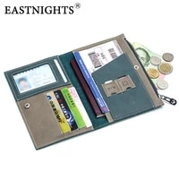 eastnights travel wallet genuine leather women credit card holder wallets rfid long men zipper passport cover bag tw2718