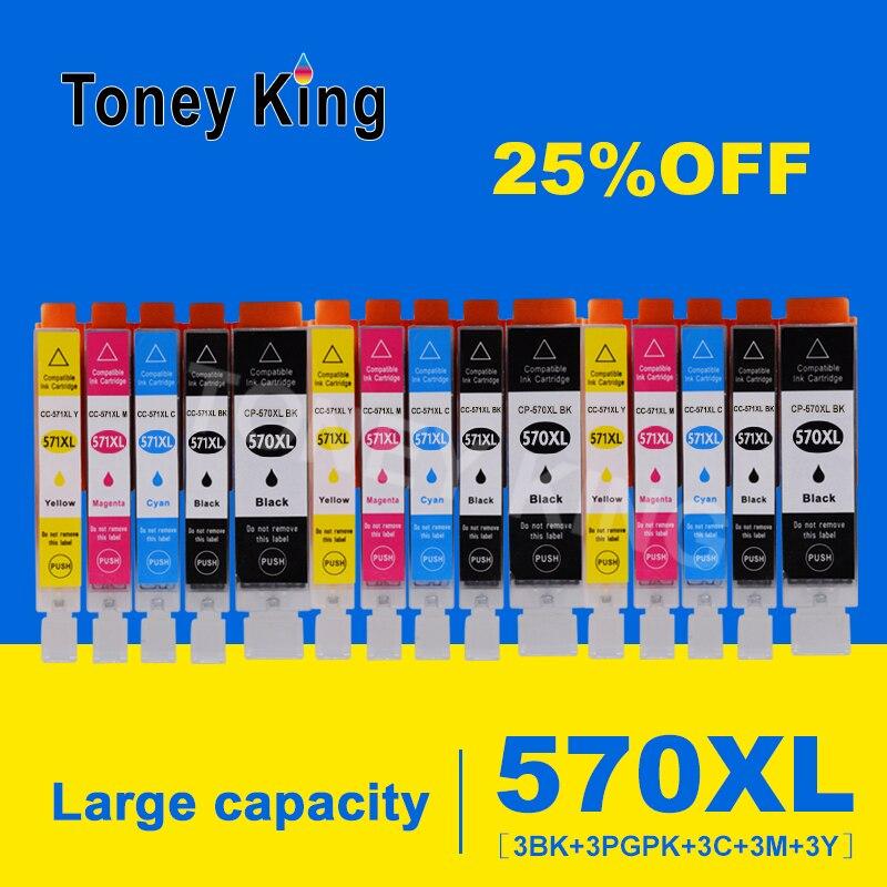 Toney King para Canon pgi-570 cli-571 cartuchos de tinta completos para Canon PIXMA MG5750 MG6850 MG7750 TS5050 TS6050 cartucho de impresora