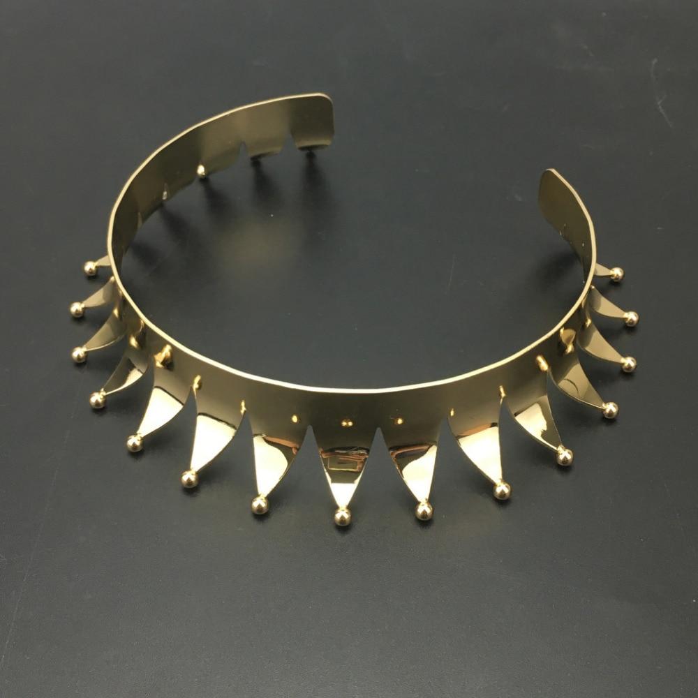 Punk Clown Collar Big Choker Necklaces Women Fashion Jewelry Shining Alloy Torques Maxi Statement Necklace UKMOC