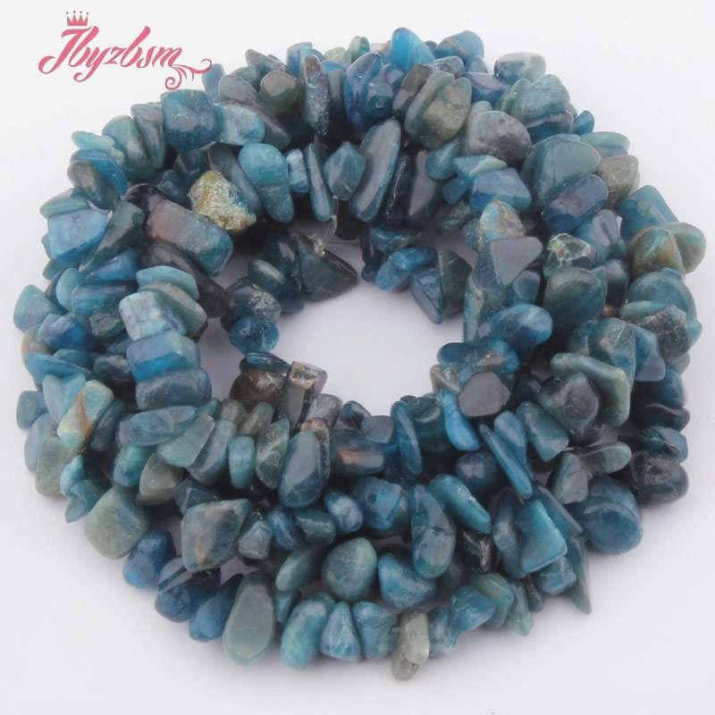 4-6x6-8mm forme irrégulière perle bleu Kyanite puce perles en pierre naturelle pour collier à faire soi-même bracelet fabrication de bijoux 15
