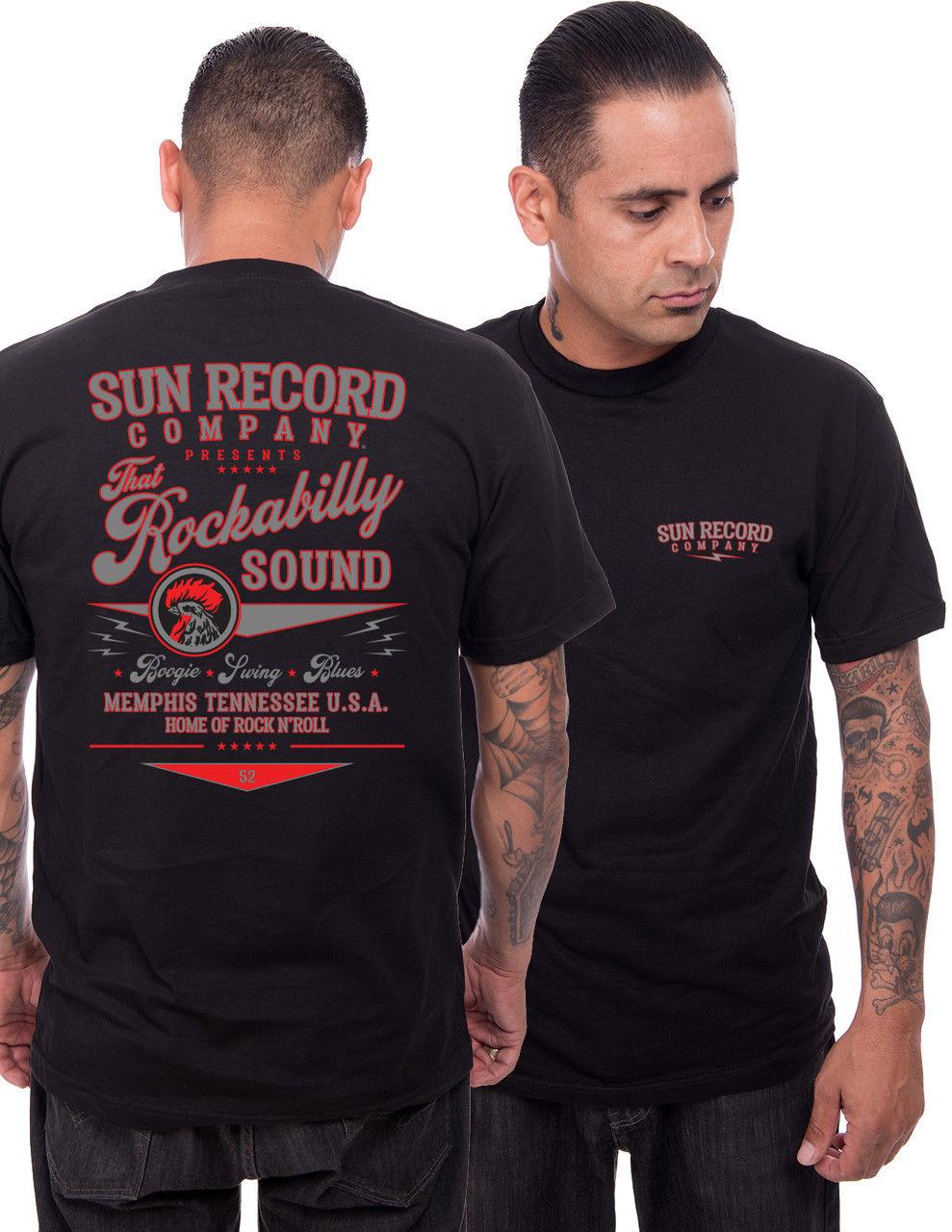 ¡Novedad de 2019! Camiseta con estampado de marca de moda para hombre, Camiseta deportiva Rockabilly Sound