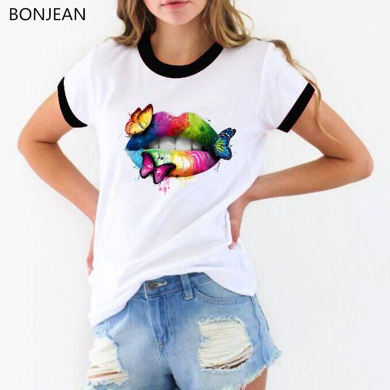Женская футболка с надписью «Pride Lgbt», белая футболка с радужными бабочками и принтом «Love» для геев и лесбиянок, tumblr clohtes female t-shir