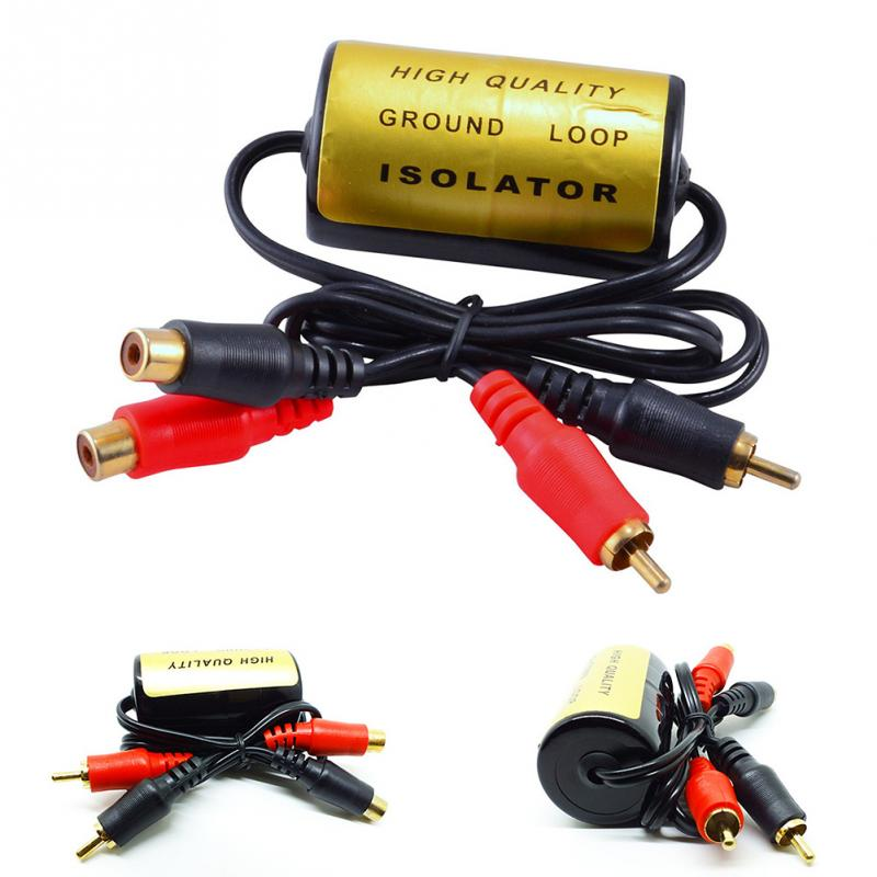 Audio Noise Filter Suppressor Ground Loop Isolator for Car and Home Stereo