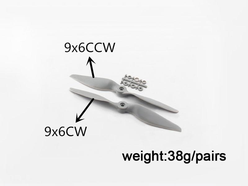 20pcs/Lot Nylon APC Propeller 9x6 CW / 9x6 CCW Propeller For RC Airplane