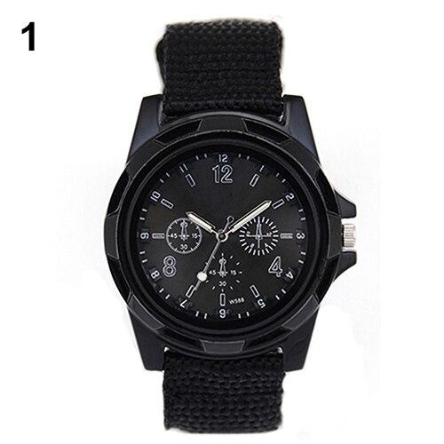 Мужские наручные часы с тканевым ремешком, светящиеся наручные часы в армейском стиле, новинка 2015