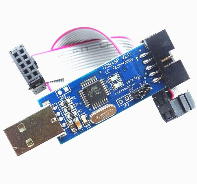 10 sätze/los USBASP USBISP AVR Programmer 3,3 v/5 v USB ISP USB ASP ATMEGA8 ATMEGA128 ATtiny/KÖNNEN /PWM + 10Pin Draht Unterstützung Win7 64Bit
