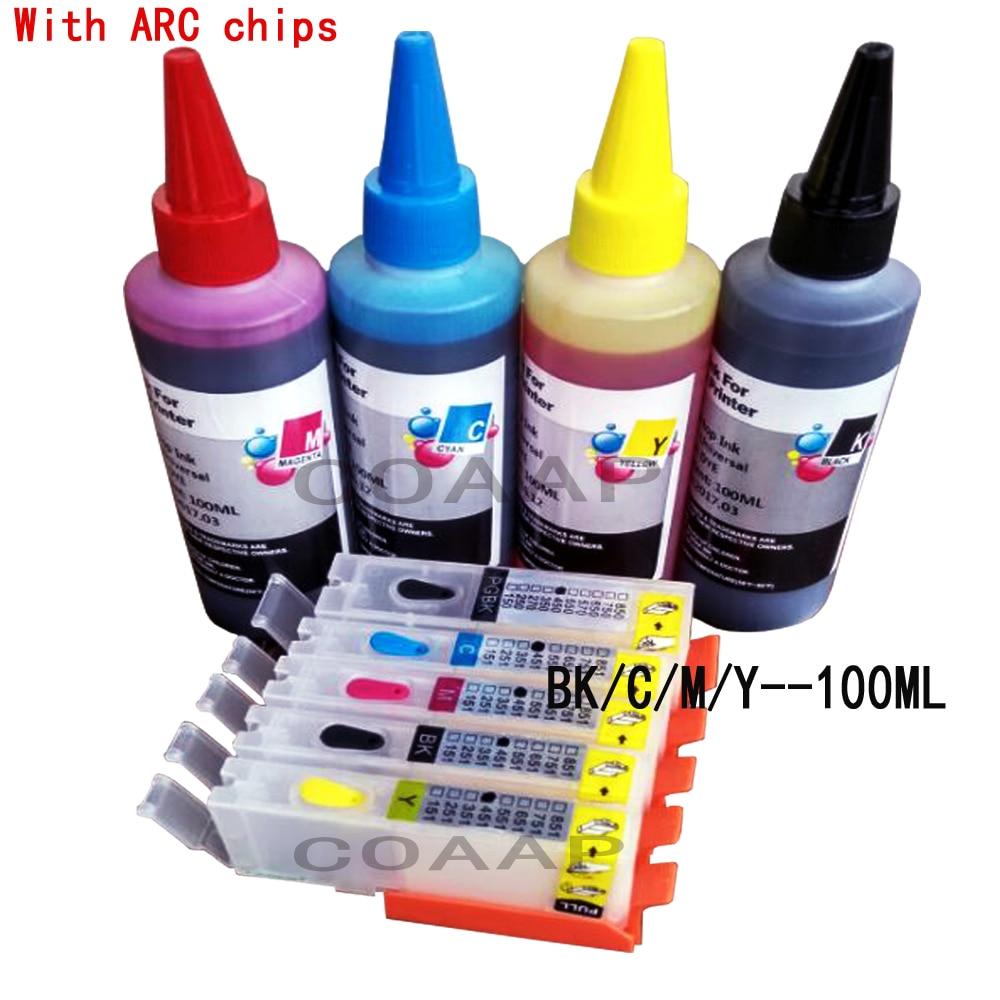 5X Картриджи для принтера многоразового использования Canon 451 PIXMA IP7240 для Cli-451 PGI450 PGI-450XL PIXMA MG5440 MG5540 IX6540 IX6840