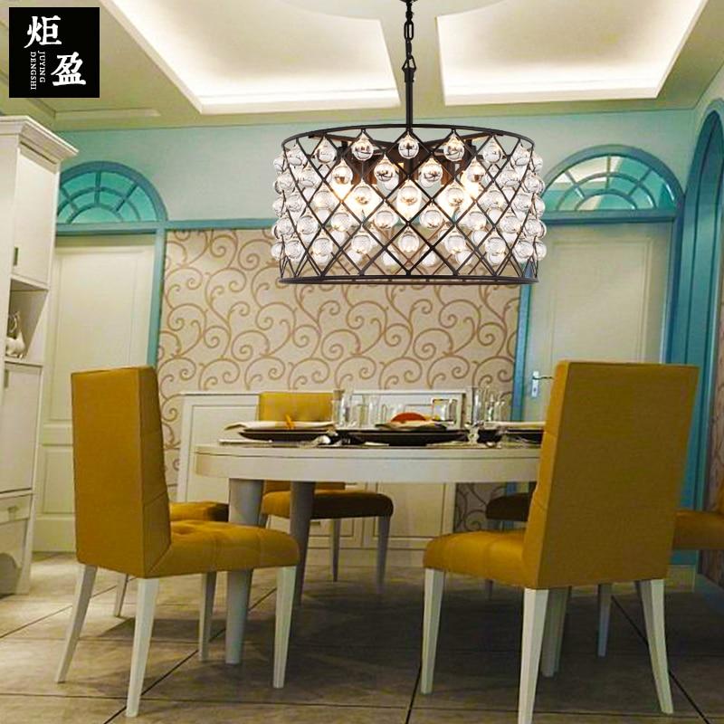 American Iron round crystal ball  chandelier living room  bar restaurant Antique Hotel D50CM