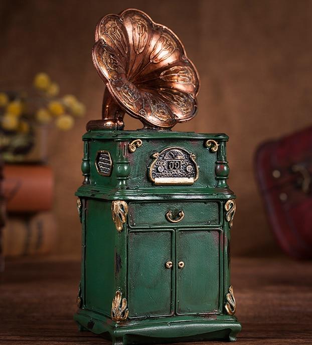 Monedas clásicas de resina Vintage caja de ahorro de dinero alcancía regalo de cumpleaños para adultos alcancía decoración del hogar de dormitorio LFB654