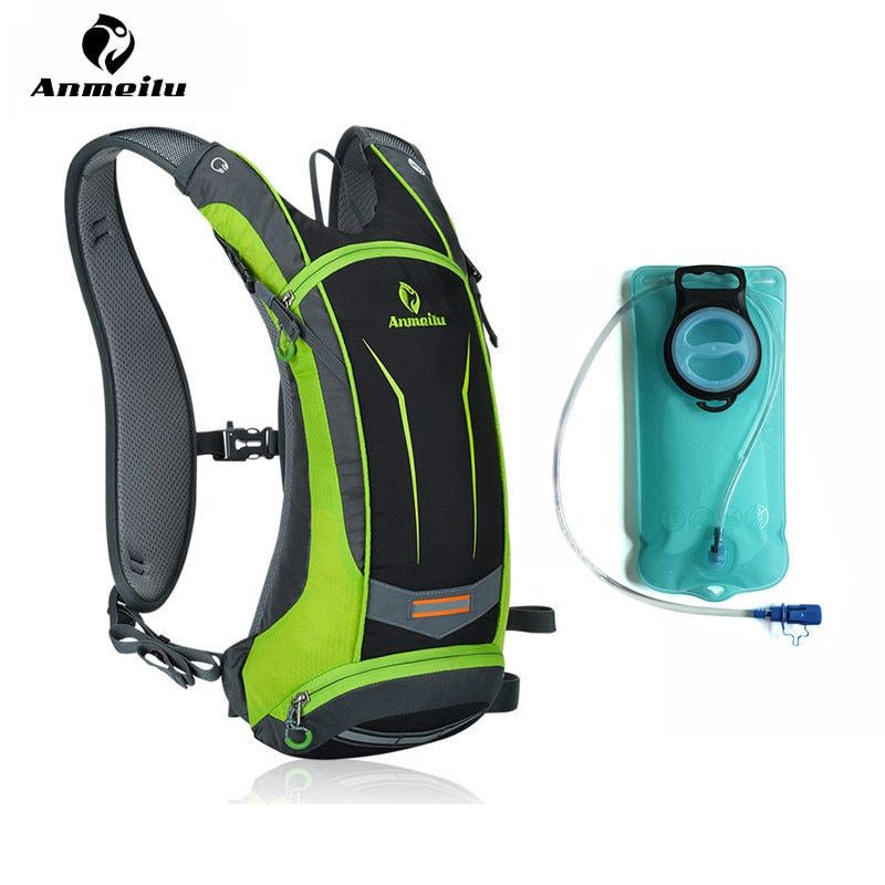 ANMEILU-حقيبة ظهر رياضية 8 لتر ، مقاومة للماء ، لركوب الدراجات ، مع أكياس مائية ، للرجال والنساء ، للتخييم والتسلق والمشي لمسافات طويلة