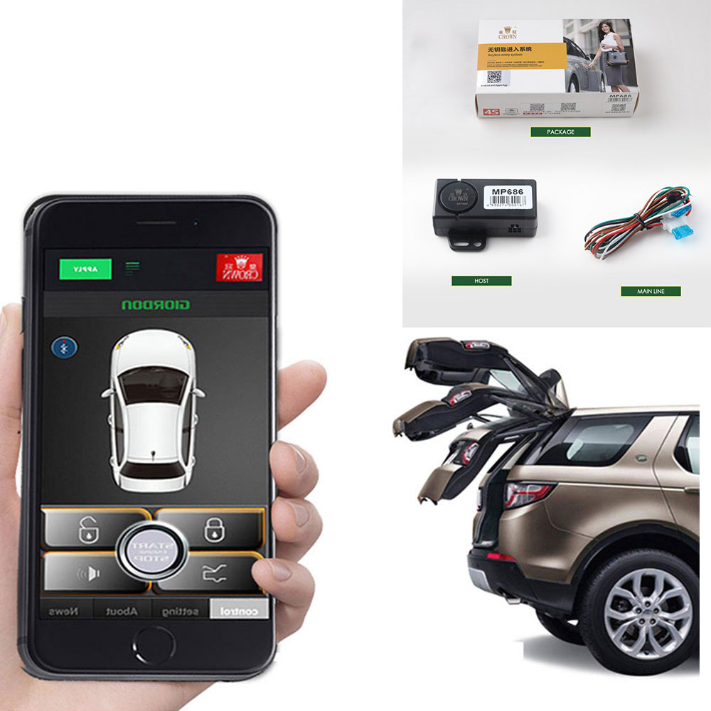 Piezas de coche cierre centralizado Universal apertura automática de maletero bloqueo centralizado remoto sistema de entrada sin llave alarma de coche MP686