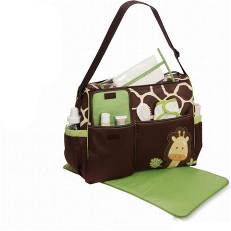 Bolso para mamá, bandolera Diagonal de gran capacidad, pañal para bebé, bolsa para cambiar pañales estilo jirafa, bolsa de pañales de viaje, mochila para pañales