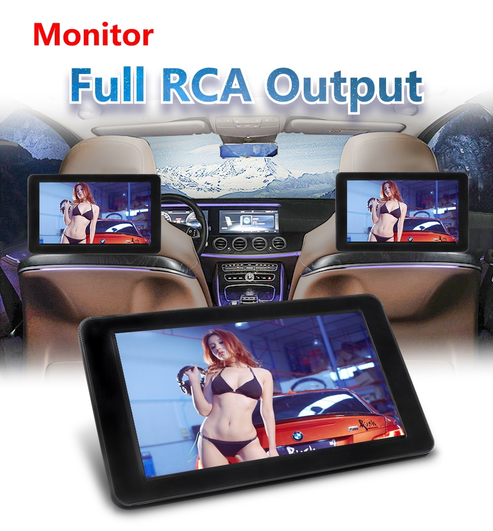 800* 480 with HD Radio AV monitor for car radio DVD Player 9 Inch TFT Digital LCD Screen Car Headres