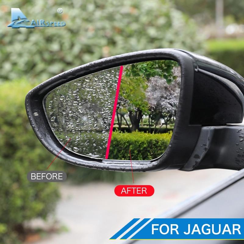 Airspeed coche retrovisor película protectora para espejo Anti niebla Anti reflejo impermeable para Jaguar XF XE F-PACE I-PACE XFL XEL Accesorios