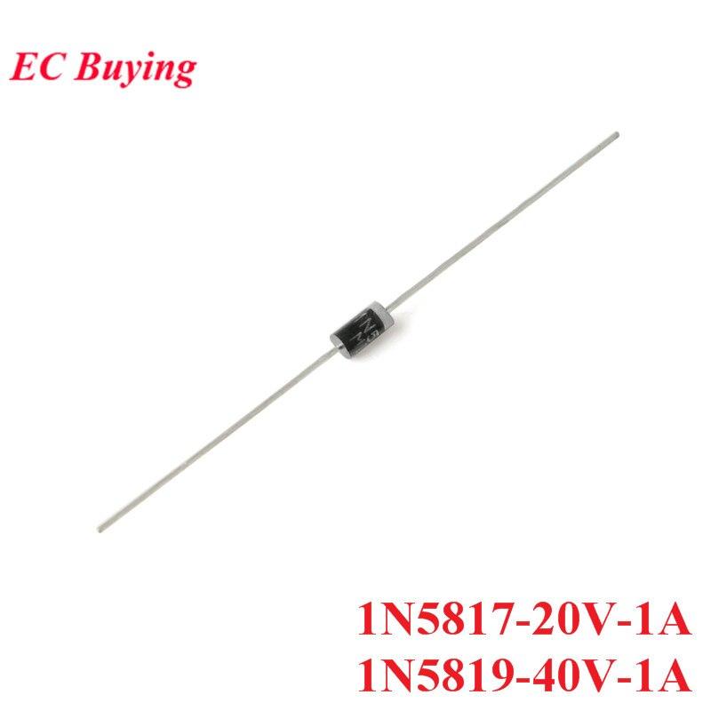 50 PCS 1N5817 1N5819 TUN-41 Schottky Rectifier Diode Gleichrichter 20 V 40 V 1A