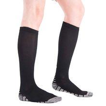 Offre spéciale chaussettes unisexes pression ferme Circulation qualité tuyau Compression chaussettes genou haute orthopédique soutien bas
