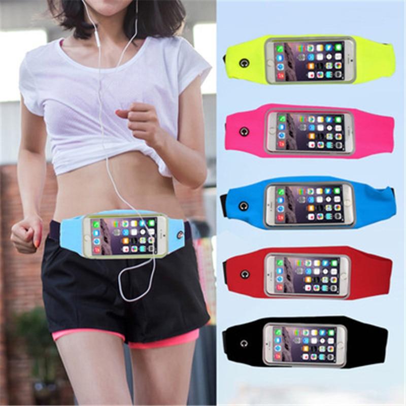 Para Samsung Galaxy S6/S6 borde/S7/S7 borde/S8/S8 Plus/S9/ s9 Plus/S10/S10E/S10 Plus gimnasio deporte impermeable teléfono móvil bolsas de cintura