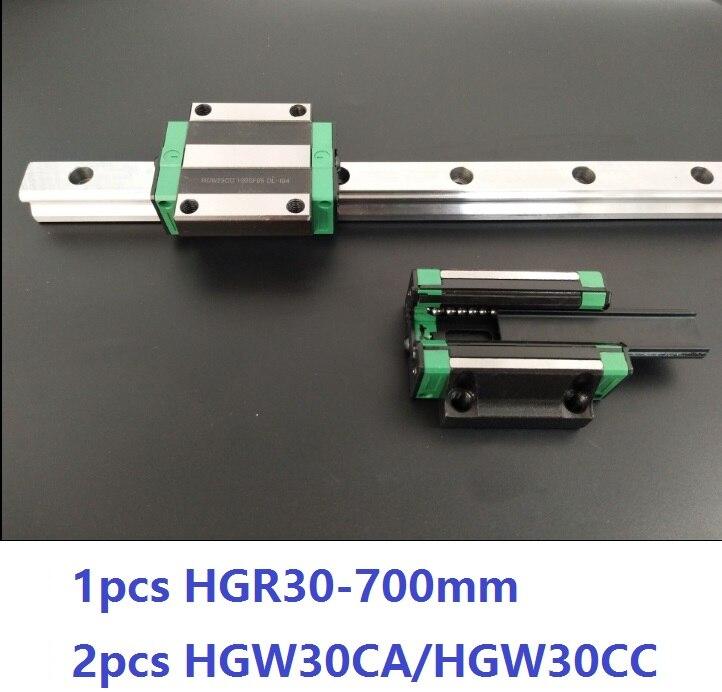 1 قطعة دليل خطي السكك الحديدية HGR30 700 مللي متر + 2 قطعة HGW30CC/HGW30CA خطي كتل النقل ل CNC راوتر أجزاء مصنوعة في الصين