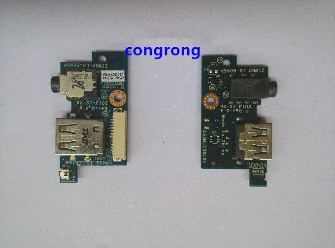 Audio de potencia USB Board asamblea para Lenovo B40 B50 B40-80 B40-70 B50-70 serie LS-B096P