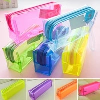 mini s size pencil bag pencil case pen stationery storage art school office home supplies transparent pens holder fashion gifts