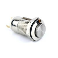 w01 new arrival 12mm latching button high round head 1no self locking push button switch