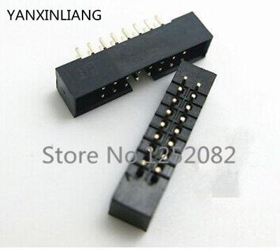 10 Uds 2,0mm 2x8 Pin DC3 16 Pin macho recto cubierto PCB IDC hembra de header