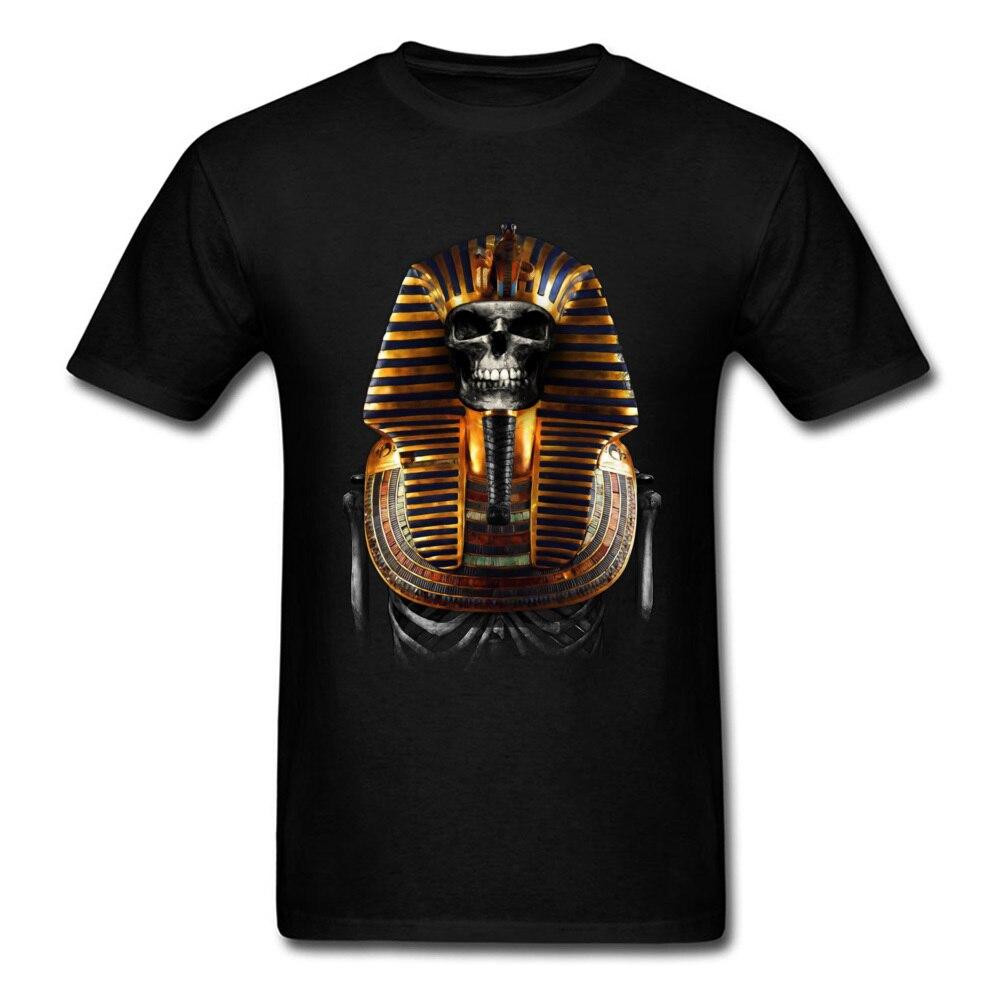 Camiseta de Faraón Skull King Of, camiseta de Egipto, camisetas 3D para hombre, ropa de algodón, camiseta Punk misteriosa, camisetas de Halloween, camiseta negra