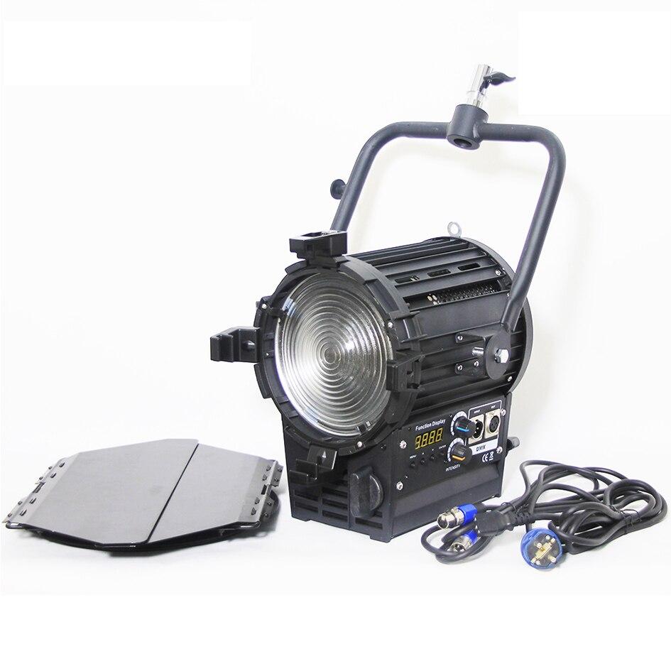 Alumotech pro como arri bi-color 3200-5500 k 200 w dmx led estúdio fresnel luz de ponto para câmera estúdio de fotografia de vídeo lâmpada