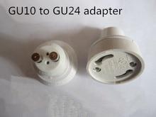 10 pcs/lot GU10 à GU24 support de lampe Gu24 à GU10 adaptateur de lampe support de prise convertisseur LED accessoires déclairage