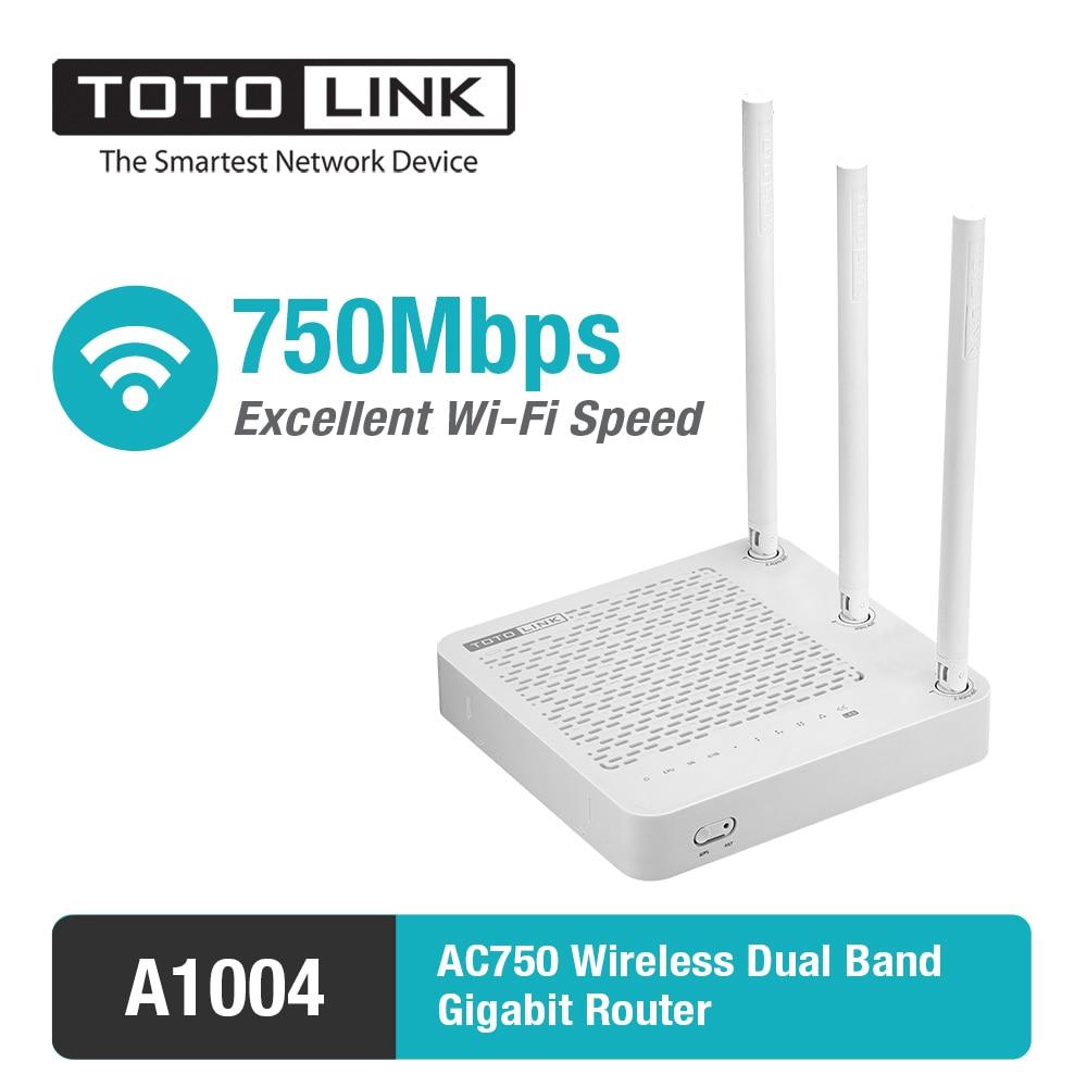 TOTOLINK A1004 750 Мбит/с двухдиапазонный беспроводной гигабитный Wifi роутер 11AC Домашний Беспроводной ретранслятор/Мост, поддержка расширения vpn-сети/Wi-Fi