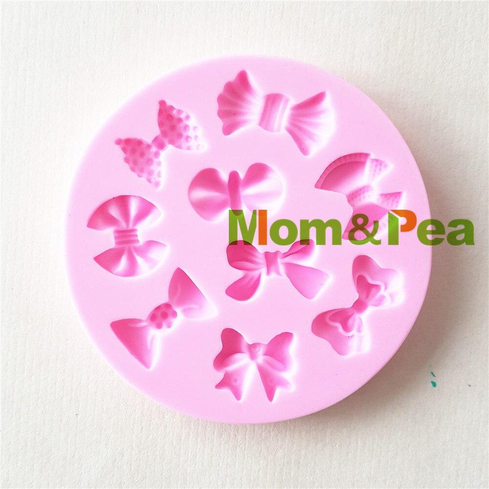 Mom & Erwt 1419 Gratis Verzending Bowknots Mold Cake Decoratie Fondant Cake 3D Mold Zeep Mold Food Grade