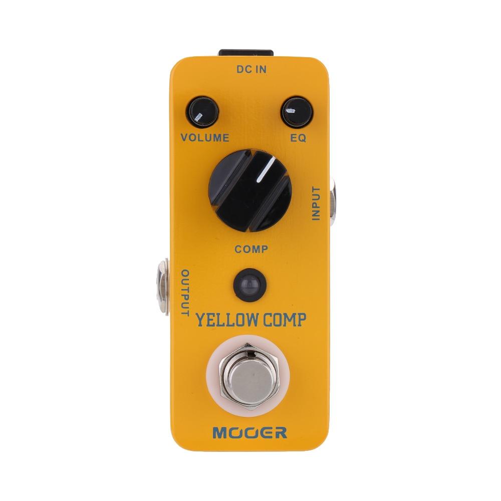 Mooer Comp Micro Mini compresor óptico Pedal de efectos de guitarra para guitarra eléctrica True Bypass guitarra Pedal accesorios de guitarra