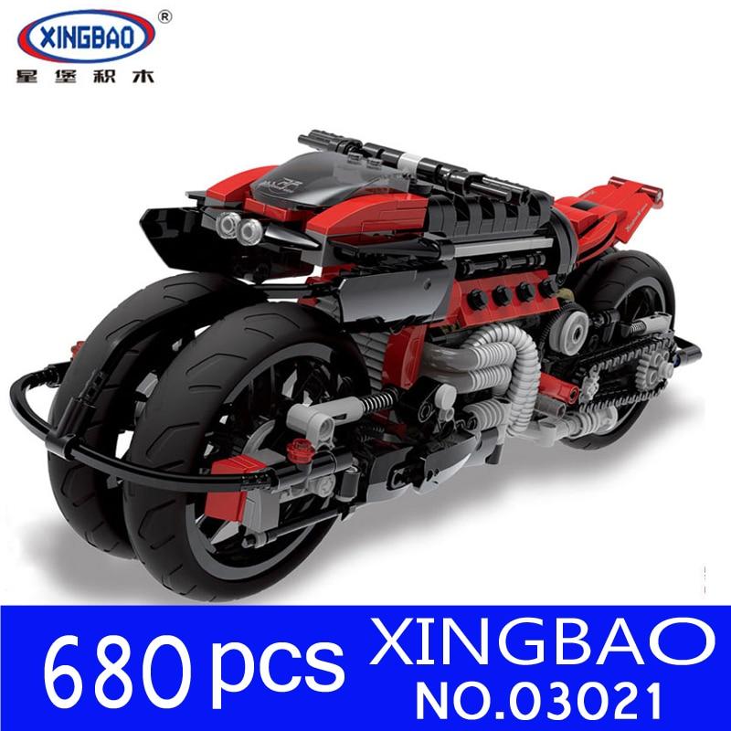 Xingbao 03021 Serie Técnica de Lepining, conjunto de motocicletas todoterreno, bloques de construcción, juguetes educativos para niños, Kit de regalos